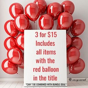 🎈🎈 3 items for $15 🎈🎈